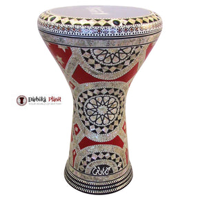 "The Red Star Gawharet El Fan 17"" Mother of Pearl Darbuka"
