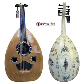 "El-Masry ""White Garden"" Professional Egyptian Oud + Professional Case - Cat#OMB-200"