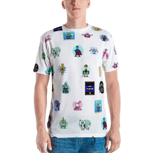 Gitcoin Bots All Over Men's T-shirt