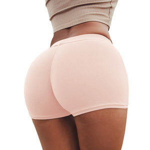 Elastic Push Up Yoga Shorts Running