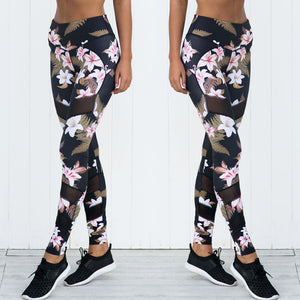 Leggings Floral Print Workout