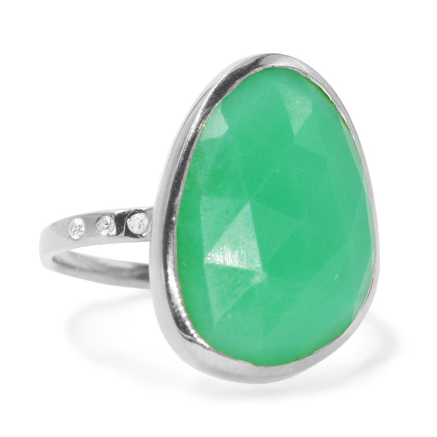 Chyrsoprase Gemstone Ring