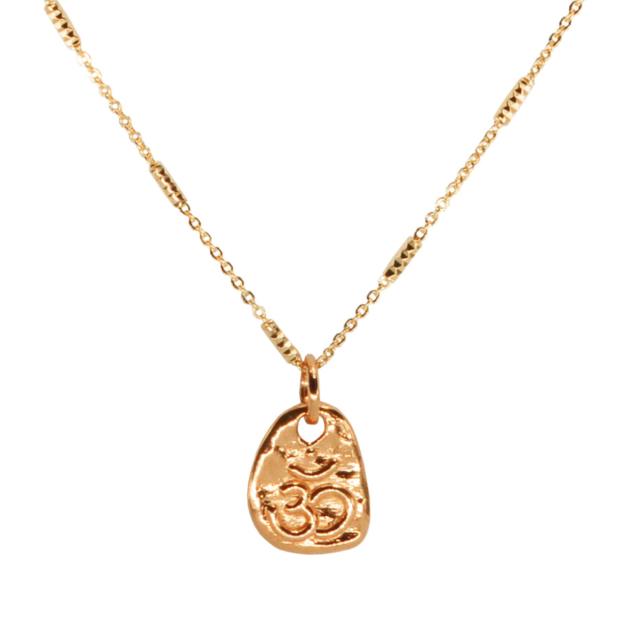 Small Om Pendant on Chain