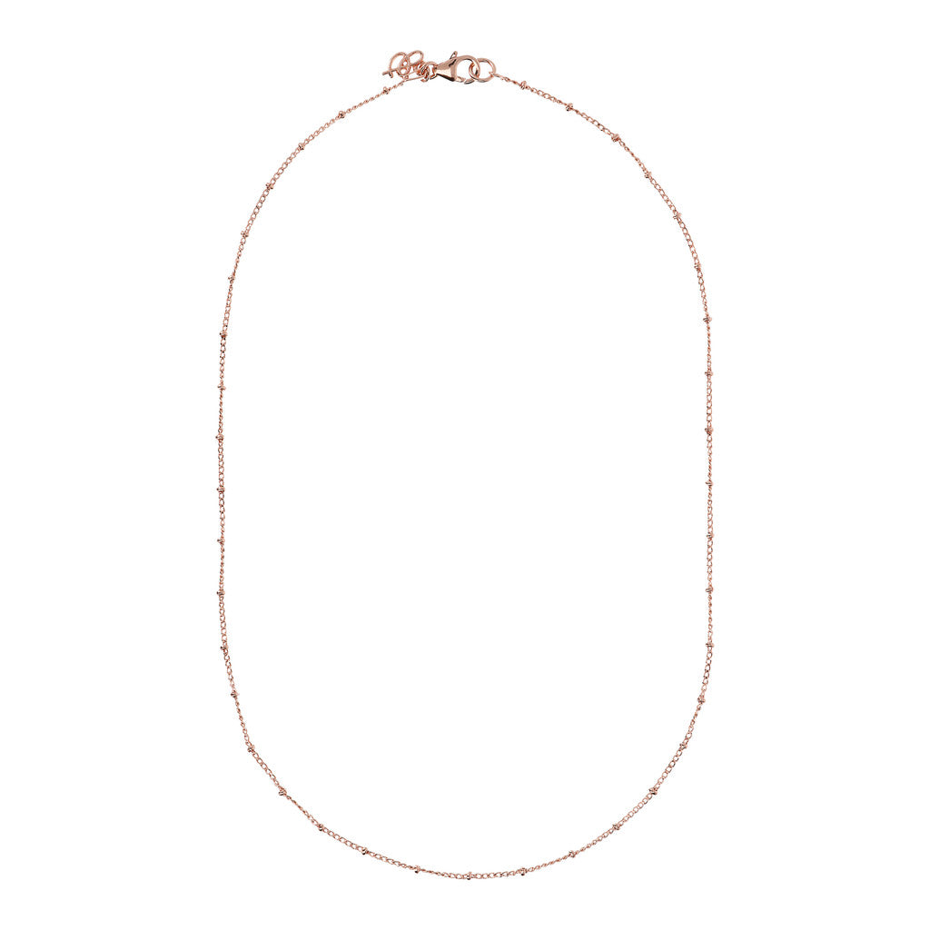 diamond cut curb chain with mini roundel necklace - WSBZ01495 laterale