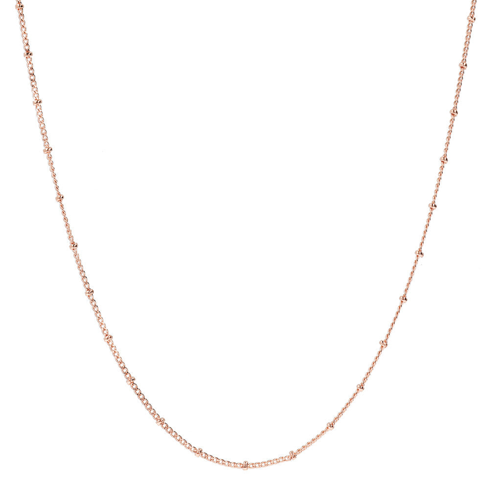 diamond cut curb chain with mini roundel necklace - WSBZ01495