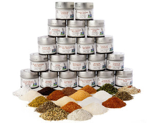 Gustus Vitae Ultimate Gourmet Salt and Artisan Spice Blend Collection (20 Tins)