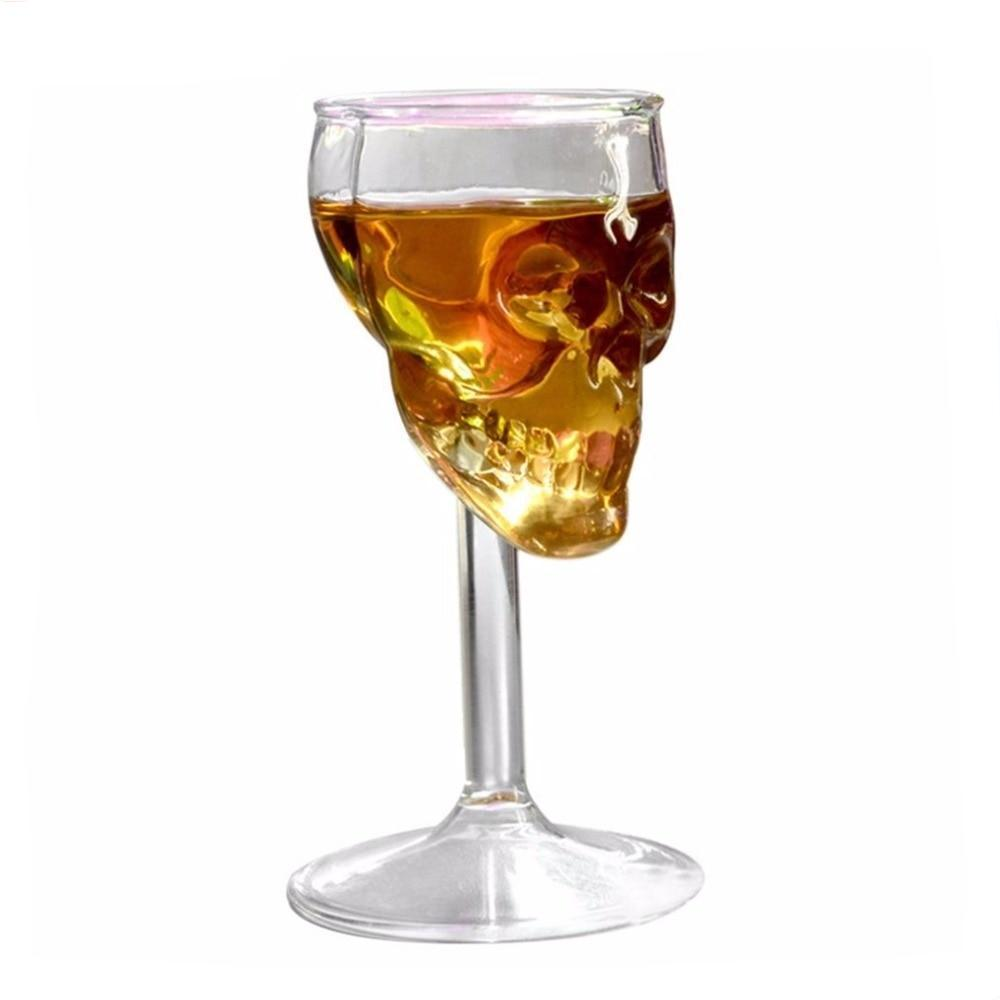 Clear Skull Shot/Wine Glass