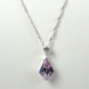 Small Lavender CZ Pendant and Earrings Set