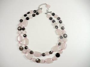 Rose Quartz Necklace and Earrings Set