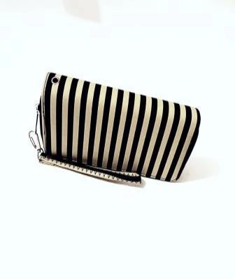 ALL ABOUT THE STRIPES CLUTCH