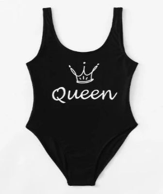 Queen Suga Black 1 Piece Swimsuit (XL)