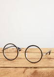 Gold Mix Circle Eyeglasses