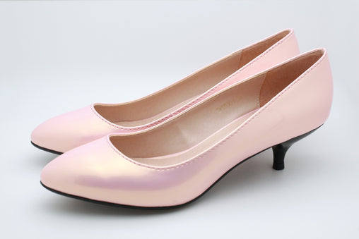 Pearl Patent Pumps (Pink)