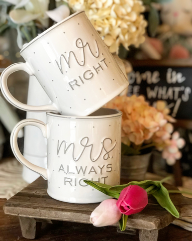 MR. & MRS. BOXED MUG SET