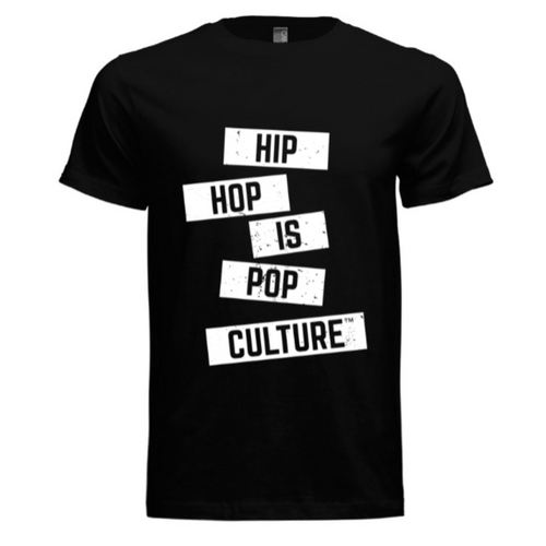 Hip Hop Is Pop Culture - Logo Tee (Black/White)