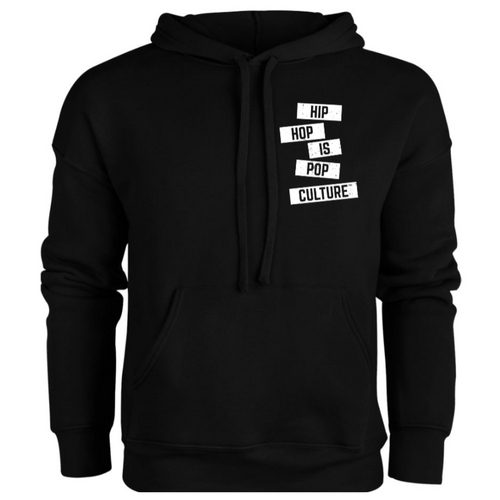 Hip Hop Is Pop Culture - Logo Hoodie (Black/White)