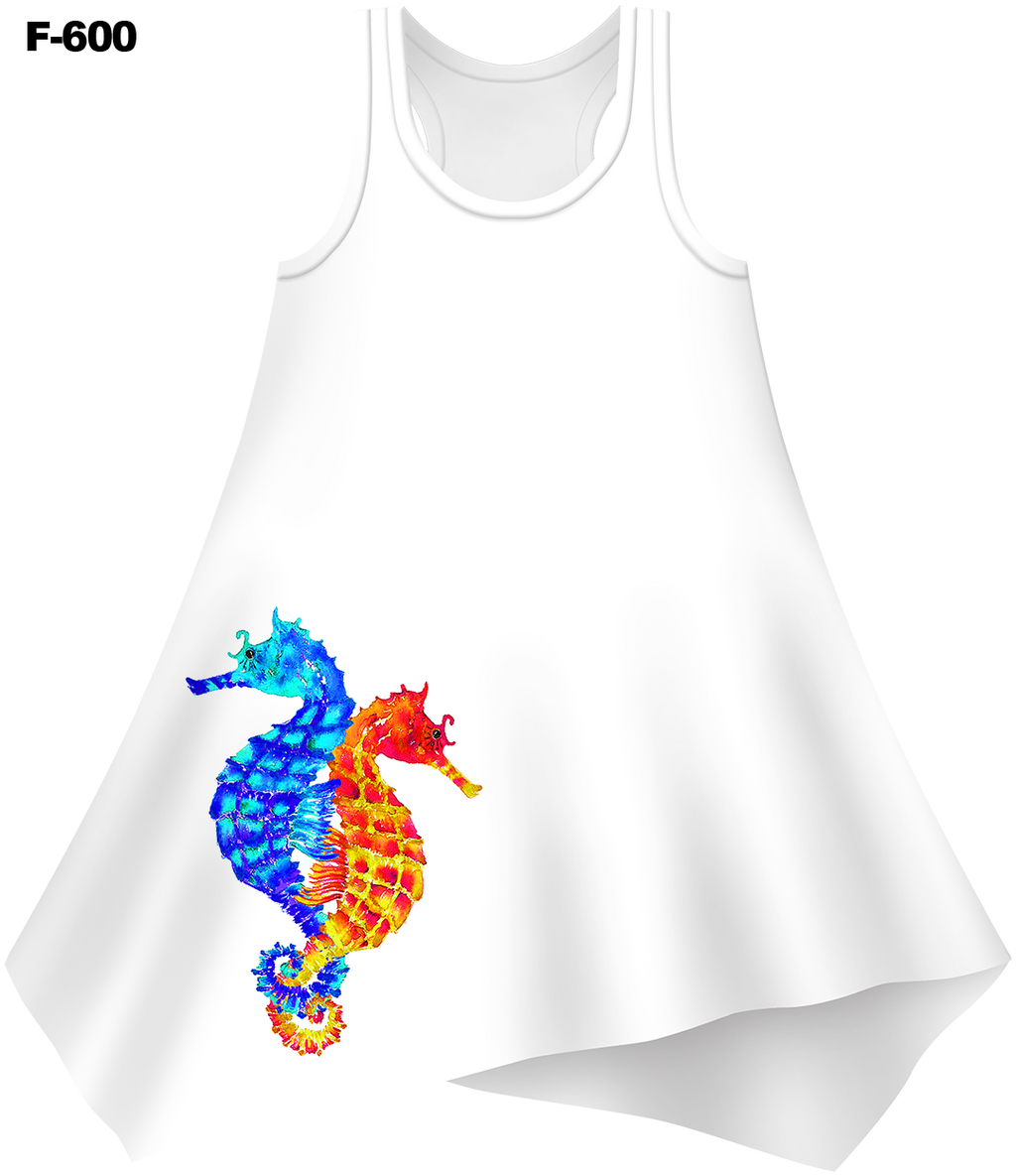 Seahorse Love Cover-Up Dress (Ladies) - - Ladies Tees | No Sleeves