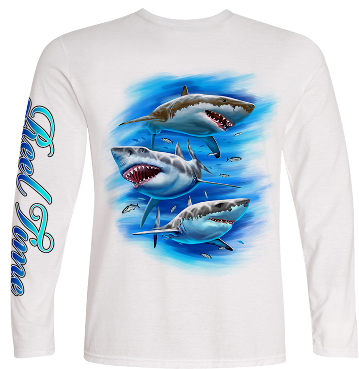 Three Sharks (Kids) - - Kids Tees | Long Sleeves