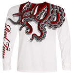 Red Octopus (Unisex) - - Unisex Tees | Long Sleeves