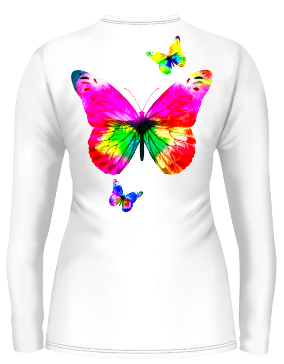 Butterflies Scoop Neck (Ladies) - - Ladies Tees | Long Sleeves