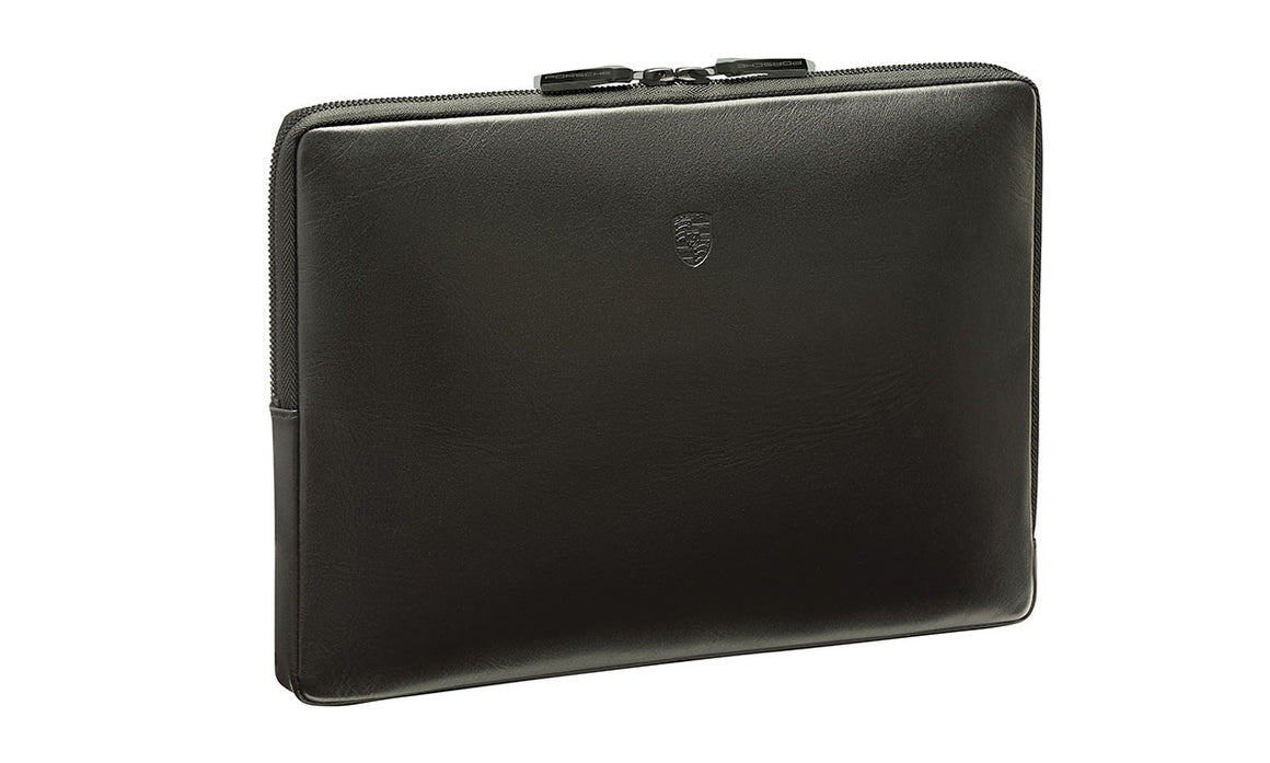 "13"" Mobile Equipment/Laptop Case, Leather, Black"