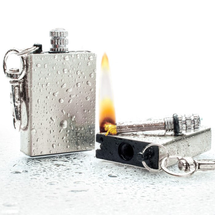 Waterproof Permanent Match Survival Lighter Keychain