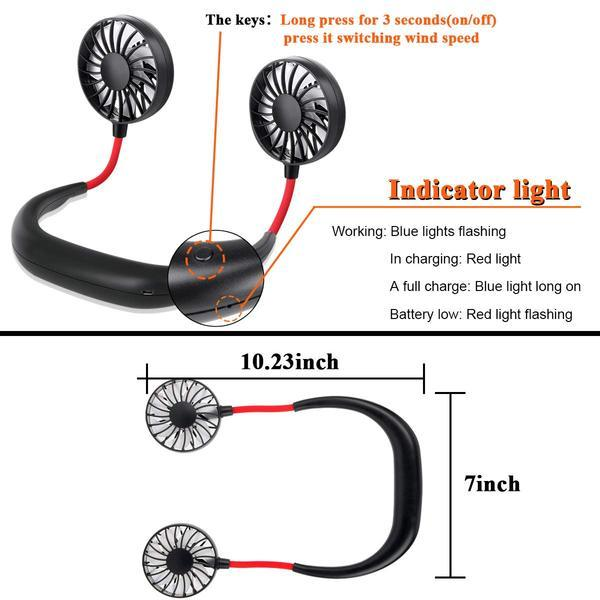 PORTABLE LAZY NECKBAND FAN