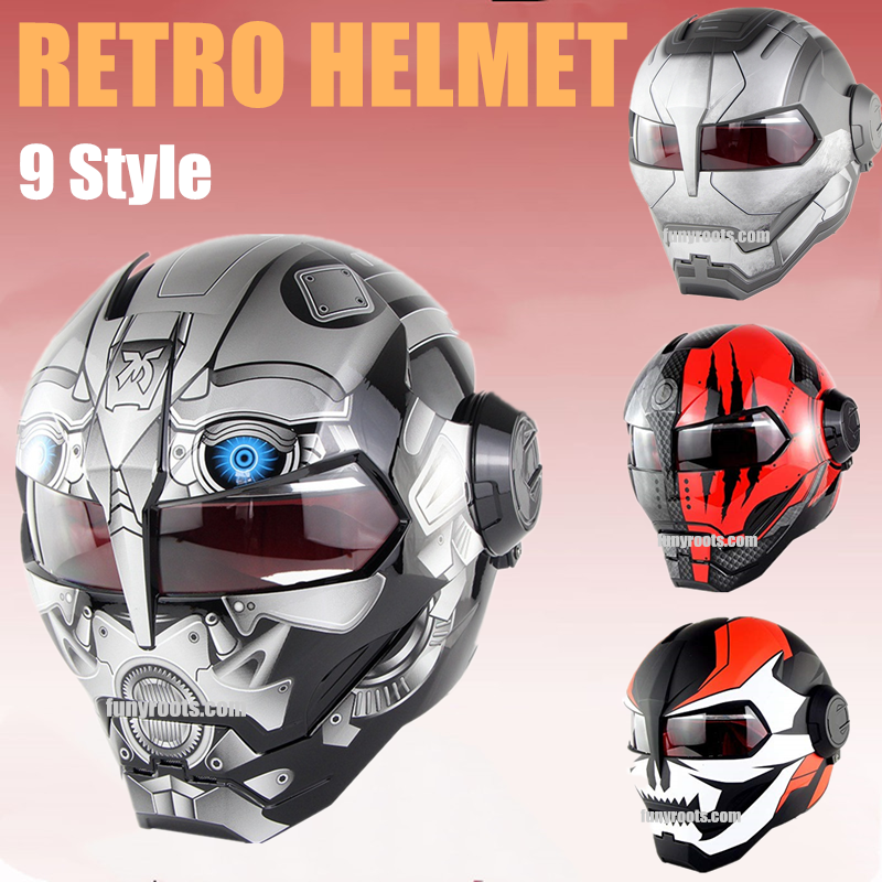 S-M Full Face Retro Motorcycle Helmet