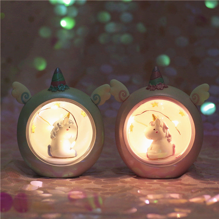 Kawaii Resin Sleep Lights Room Decor Gift