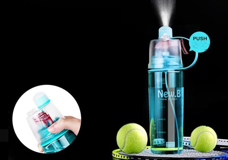 2 in 1 Sport Drinking Spray Bottle