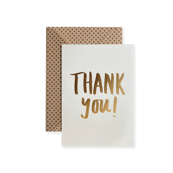 Thank You Luxe Foil Greeting Card