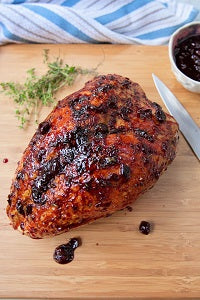 Air Fried Turkey Breast with Cherry Glaze