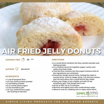 Air Fried Jelly Donuts