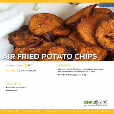 Air Fried Sweet Potato Chips