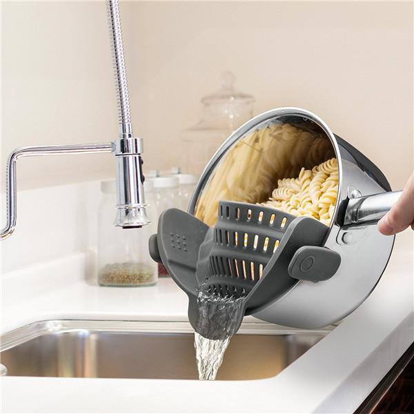 Clip-On Silicone Strainer-Kitchen & Dining-bsubuy.com-