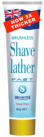 Fast Brushless Shave Lather - Original 1990's Tube 80g
