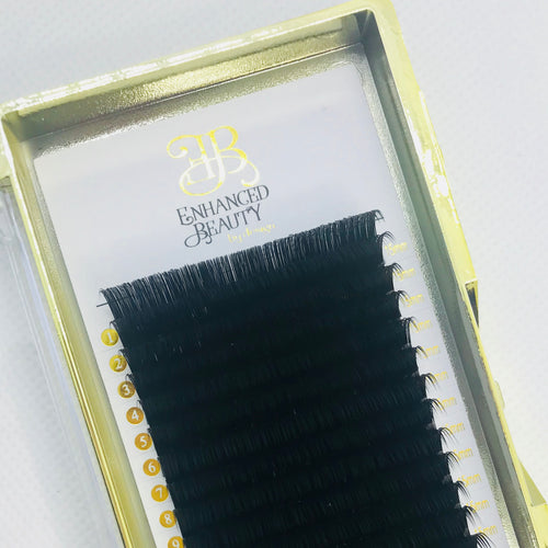 SINGLE Length Eyelash Extension Trays (for VOLUME Lash Applications)