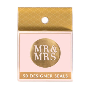 Metallic Sticker - Mr and Mrs Gold 50pk