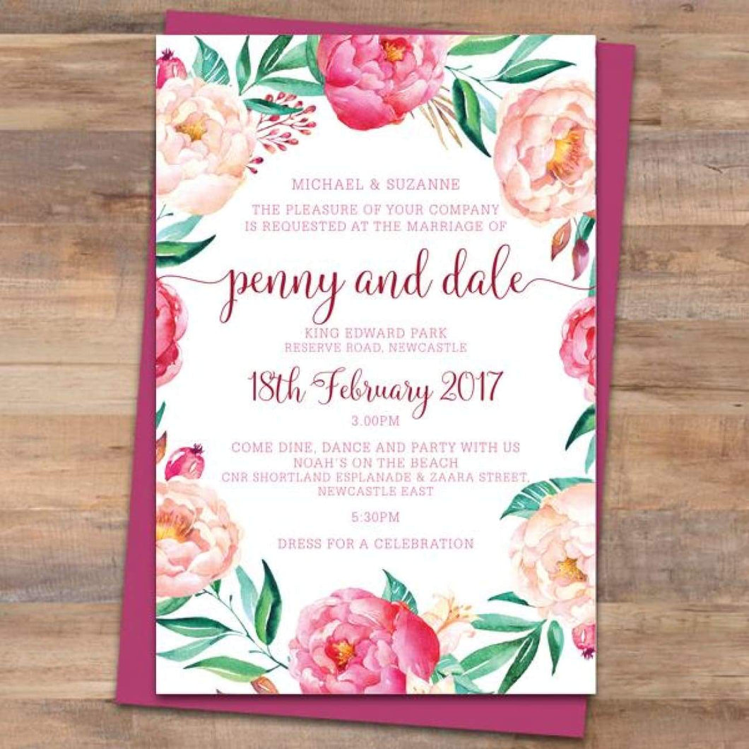 Passion 2 Wedding Invitation