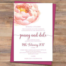 Passion 3 Wedding Invitation
