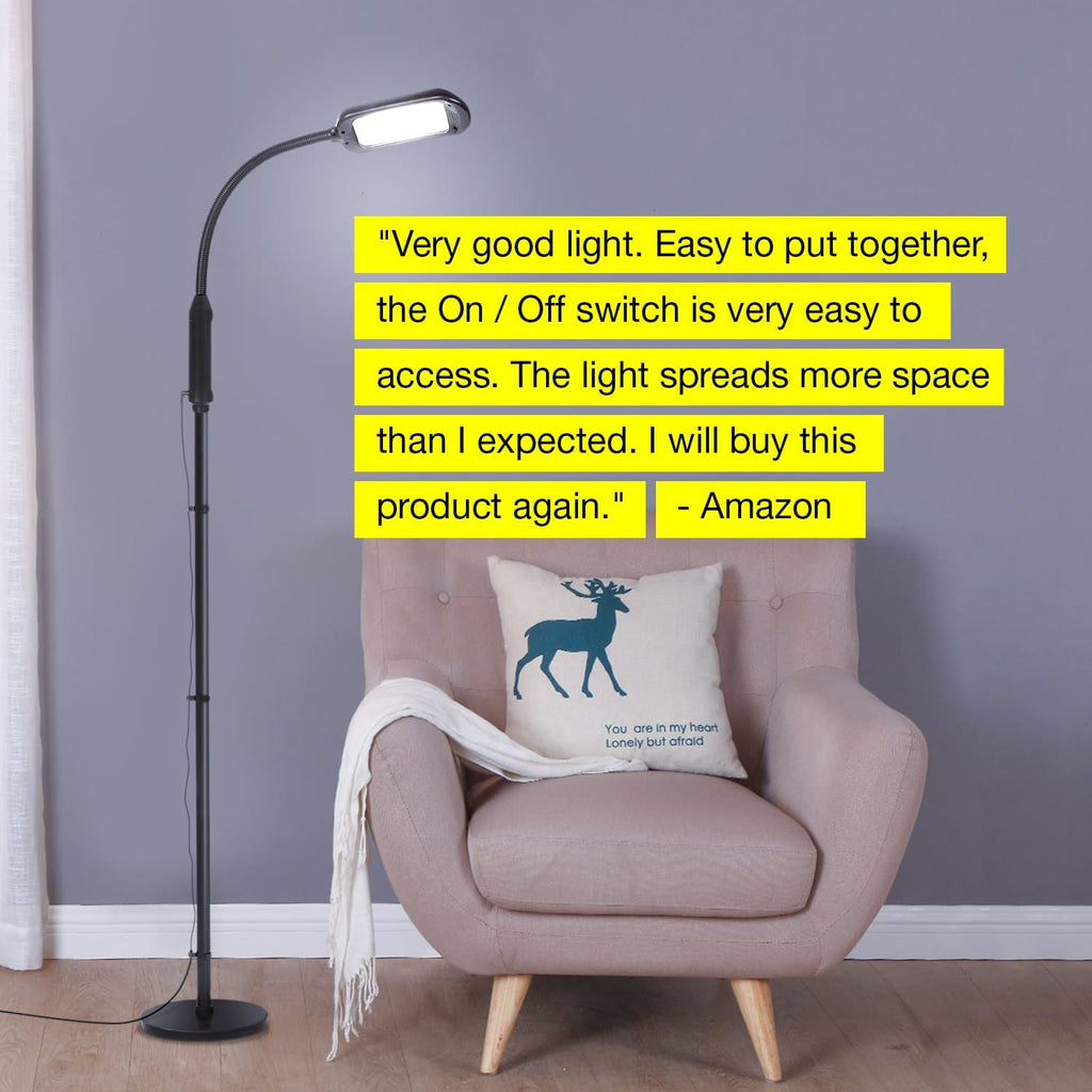 5 Diopter LiteSpan 2in1 LED Floor Lamp: Hobbies, Crafts, Projects, Bright Adjust