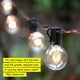 Black Ambience Pro Globe Outdoor String Lights: Waterproof Patio Lighting
