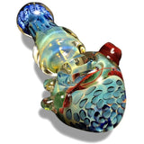 Multi-Colored Glass Spoon with Blue Swirls