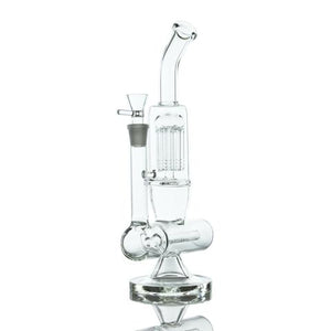 Inline Perc Chamber to Tree Perc Bent Neck Water Pipe