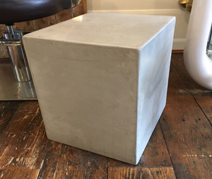 Polished Concrete Cube Side Table