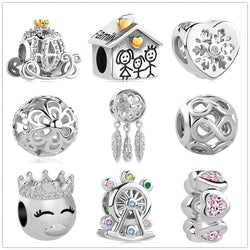 2018 new Infinite Shine Sweet Home Bead fit Original Pandora charms silver 925 Bracelet trinket jewelry for women man making