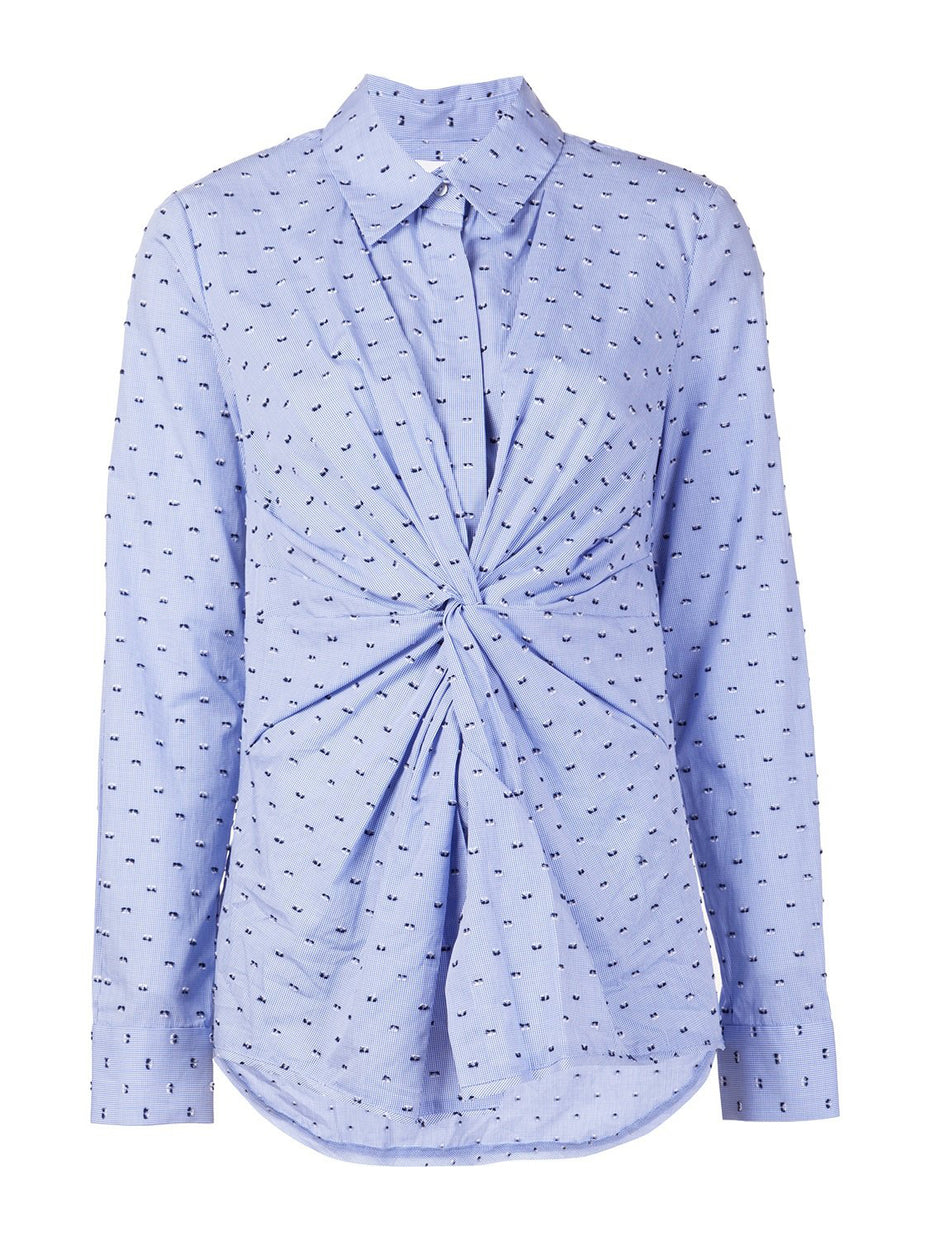 Embroidered Knot Shirt