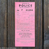POLICE PARKING TICKETS New York 1960s