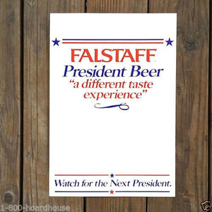 FALSTAFF BEER Presidential Cardboard Sign 1976