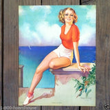 ACCENT ON YOUTH Pinup Art Lithograph Print 1939